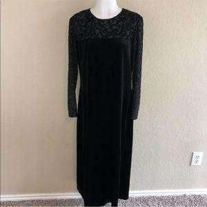 Vintage Diane Von Furstenberg Black Long Dress M
